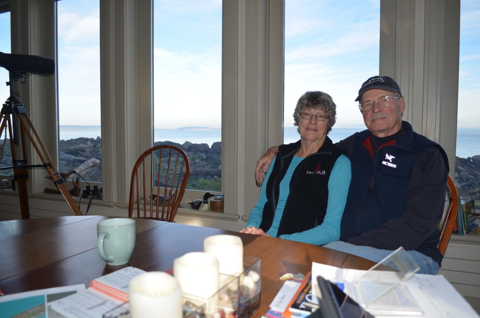 Tom and Marie Cawrse live right next on the beach in Port Townsend.