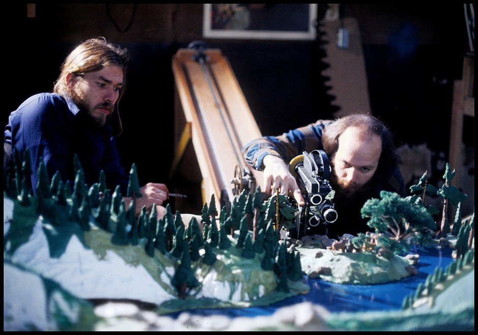 Claymation pioneers Bob Gardiner and Will Vinton.