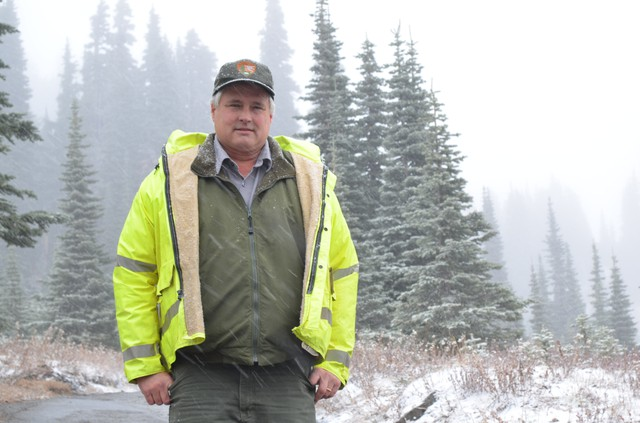 Jim Ziolkowski, known to his coworkers as Jimmy Z, is in charge of all the road and trail maintenance at Mount Rainier National Park.