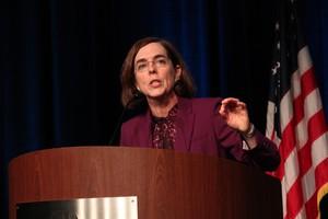 Oregon Gov. Kate Brown said she will not debate Republican gubernatorial candidate Bud Pierce until September.