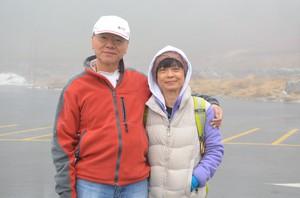 Yu-tai Chia came to Mount Rainier National Park to bring his wife, Li-jen Tseng, who had never been.