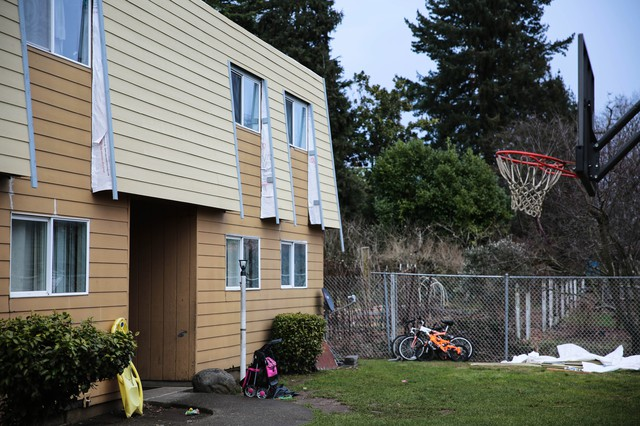 Twenty-five children live at the Normandy apartment complex in Portland's Cully neighborhood where a new landlord has issued 100 percent rent increases.