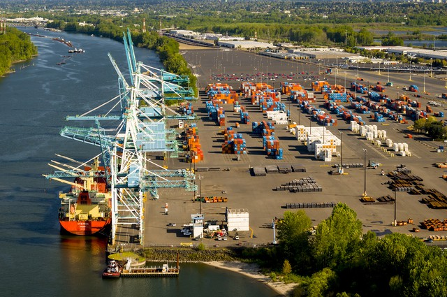 Terminal 6 at the Port of Portland, pictured here in April of 2013, lost 95 percent of its container business in April 2015.