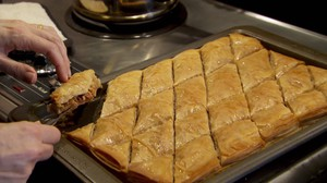 Abu-Jaber grew up on the traditions of Eastern foods like baklava.