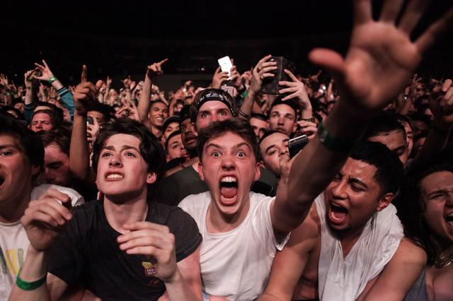 Front row at Travis Scott show.