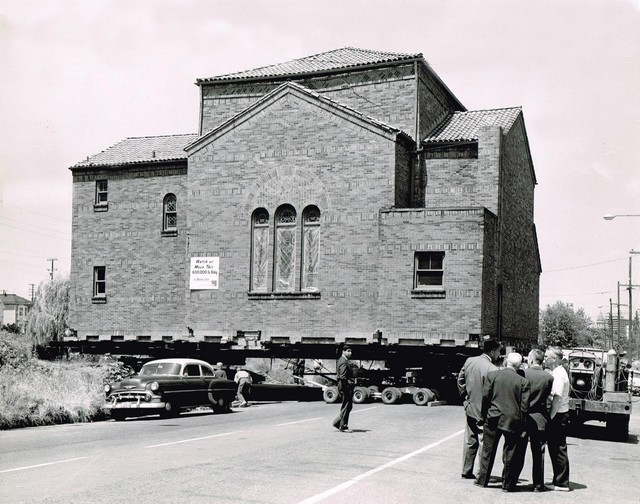 By the 1960s, much of the largely immigrant South Portland neighborhood was slated for demolition under urban renewal. Congregation Ahavath Achim tried to move its synagogue from Southwest Third Avenue and Sherman Street to a new location in 1962. But only 100 feet down the road, a wall cracked and the building had to be demolished on the spot.
