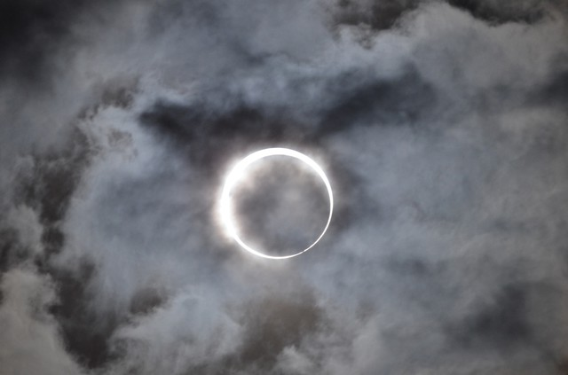 A solar eclipse in Hyogo, Japan, is pictured in this May 21, 2012, file photo.
