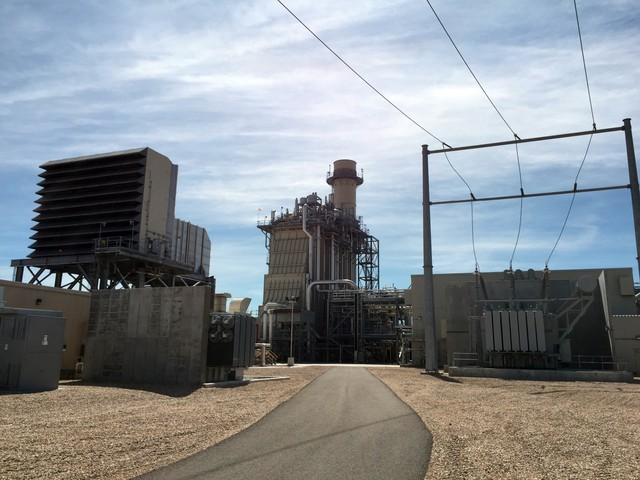 This July 16, 2015, file photo shows Idaho Power's Langley Gulch Power Plant in New Plymouth, Idaho, which has a combined-cycle combustion turbine that uses natural gas to produce energy as well as exhaust heat to produce steam that also produces energy.