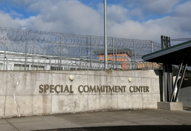 The main entrance to Washington state's Special Commitment Center on McNeil Island, Wash., holds the most dangerous and feared criminals in Washington state: sexually violent predators.