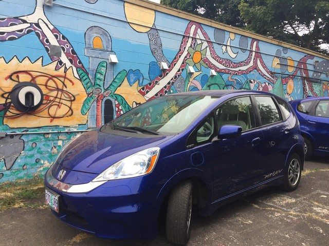 Hacienda Community Development Corporation teamed up with the electric car advocacy group Forth to bring three EVs to a low-income housing community in Portland.