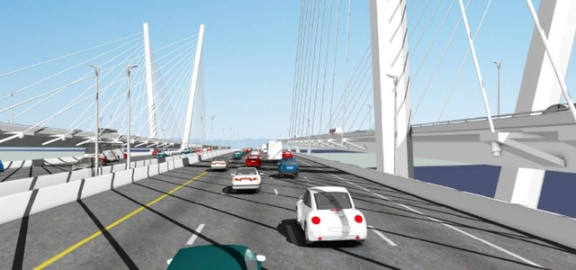 Early conceptual drawing of the CRC bridge.