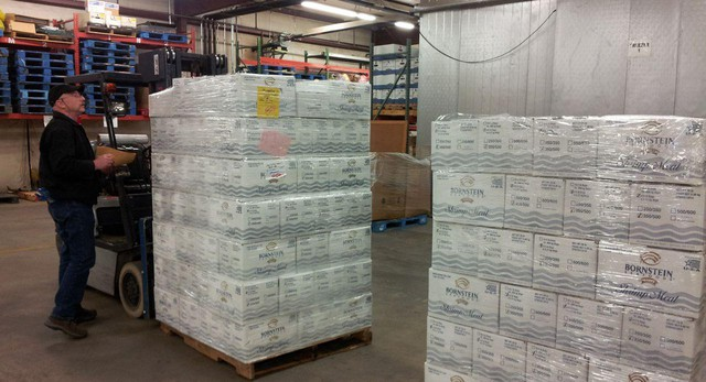 Salad shrimp from Bornstein Seafoods in Astoria is delivered in bulk to schools in the Bend-La Pine School District in Central Oregon.