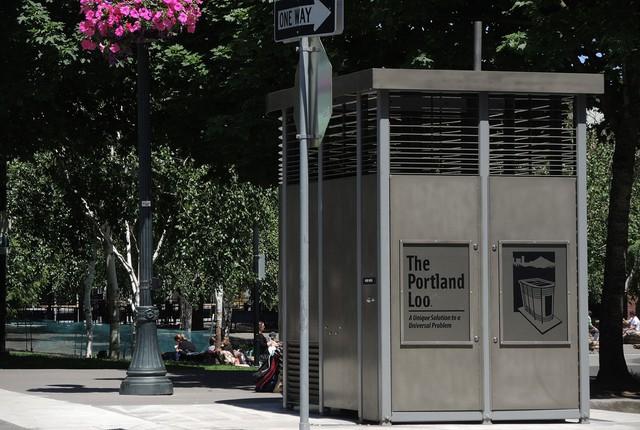 The Portland Loo at Jamison Square.