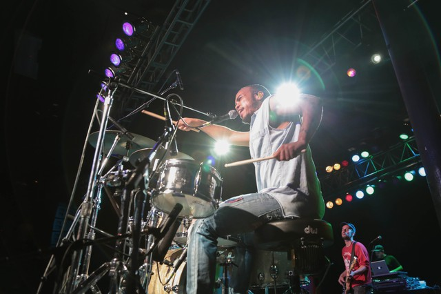Anderson .Paak performs at Roseland Theater in Portland for the Soul'd Out Music Festival on April 16, 2016.