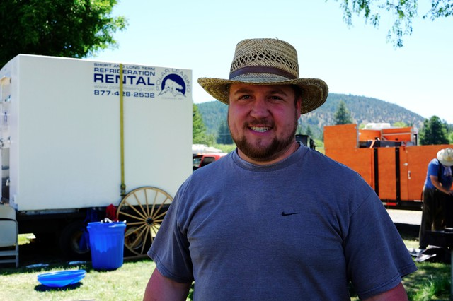 Seth Vincent helped to grill up a tri-tip dinner for 230 people last night. He says you can only take historical reenactment so far.