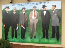 Civic mural on the U.S. Bank building in downtown LongviewThe Cowlitz Economic Development Council has offices inside.