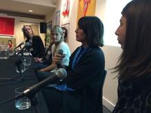 From left to right, Davora Lindner, Jennifer Guarino, Elizabeth Dye, Britt Howard, and Rosemary Robinson.