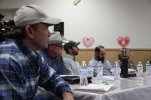 Members of the Harney County Committee of Safety meet to discuss the ongoing occupation in Burns on Jan. 8, 2015.