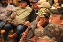 Fourth generation Harney County rancher Scott Franklin listened to the Bundy brothers Monday night in Crane, Oregon.