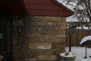 The Malheur National Wildlife Refuge headquarters, seen here in January 2016, will remain closed during the trial for seven people charged in the refuge's takeover.