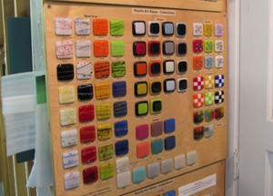 Bullseye's wide range of compatible colors for fused glass projects have made them a desirable supplier for schools like Aquila.