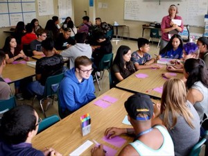 An English classroom at McKay High School in Salem, Oregon, on Wednesday, Sept. 6, 2017. Wednesday was the first day of school for most grades in Salem-Keizer.