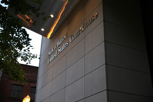 The federal courthouse in downtown Portland.