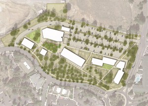 An Illustrative Site Plan of OSU — Cascades in Bend.