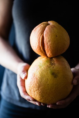 Farmers can't sell misshapen fruits like these grapefruits to grocery stores, but California-based Imperfect Produce will deliver them to your house.