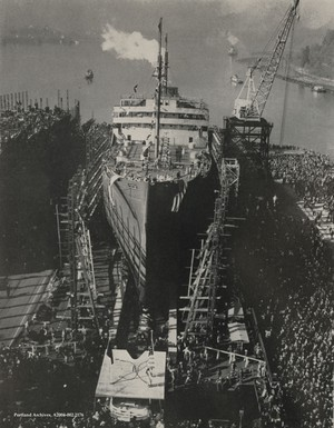 President Roosevelt called for a seven-day work week to build ships even faster to win the war.