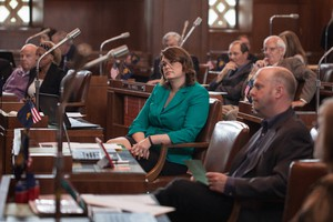 Oregon Sen. Sara Gelser, D-Corvallis, is pictured at the Oregon Capitol in this undated file photo.
