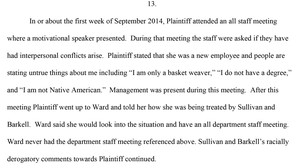 Excerpt from Wood's lawsuit.