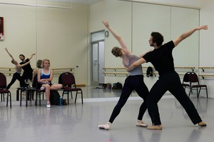 As a winner of Oregon Ballet Theatre's XX Choreography Contest, choreographer Nicole Haskins (left) has four weeks to create and rehearse a new work with OBT's dancers before its world premiere.