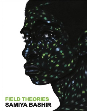"""""""When I saw this image, it was as if it was a fully articulated blues statement in a way that felt so exactly like what I was making that it blew me away,"""" says Samiya Bashir of the image """"Lonely Chamber"""" by Toyin Ojih Odutola that's now the cover of """"Field Theories."""" """"The flesh is lit by these blues and greens and yellows that are bursting like light, almost as if through a fractured black body. The fracture is not a furthering of oppression, but more like a cracking through or a release, sending back all that light that's contained inside."""""""