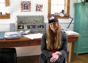 Carson Ellis in her studio