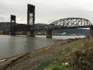 A view from the cleaned up McCormick and Baxter site, on the east side of the Willamette River.