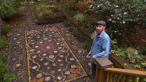 Bale's Persian Rug design in a tiny Northwest Portland garden.