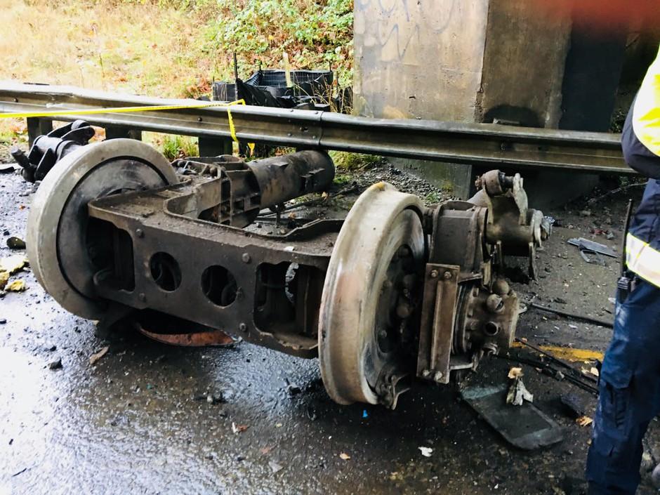 A Portland-bound Amtrak train derailed near Tacoma, Wash.,Monday, Dec. 18, 2017.