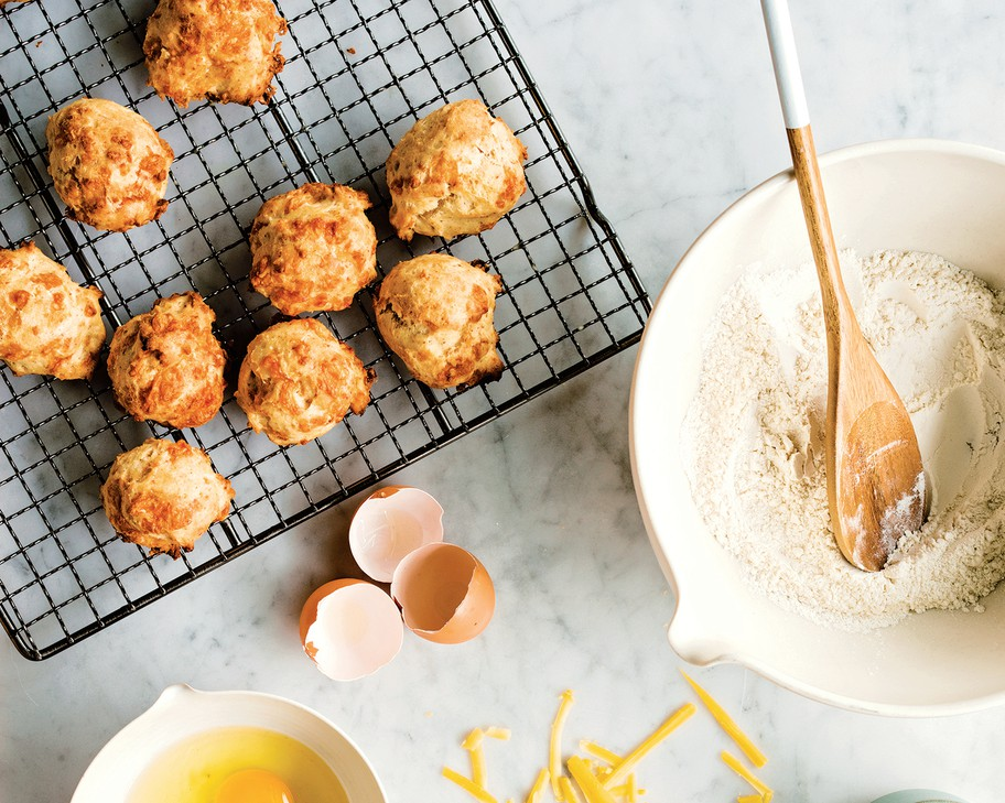 "Homemade Onion Skin Powder is the secret ingredient that gives depth of flavor to these easy Cheese and Onion Biscuits from Portlander Sarah Marshall's new cookbook, ""Preservation Pantry, Modern Canning from Root to Top & Stem to Core."""