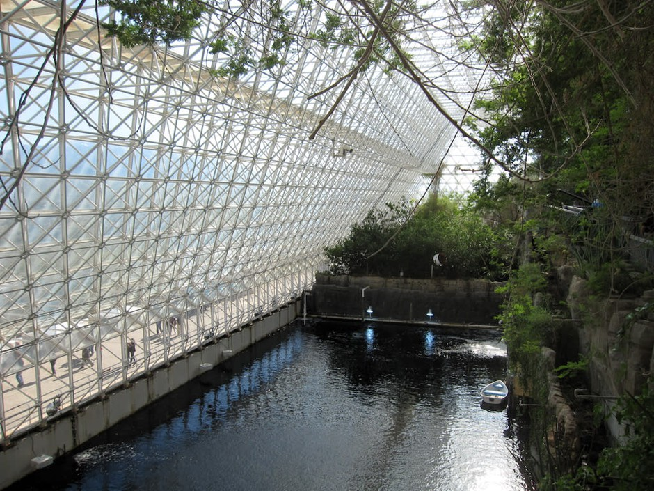 A tank at Biosphere 2 known as the Biosphere 2 Ocean.