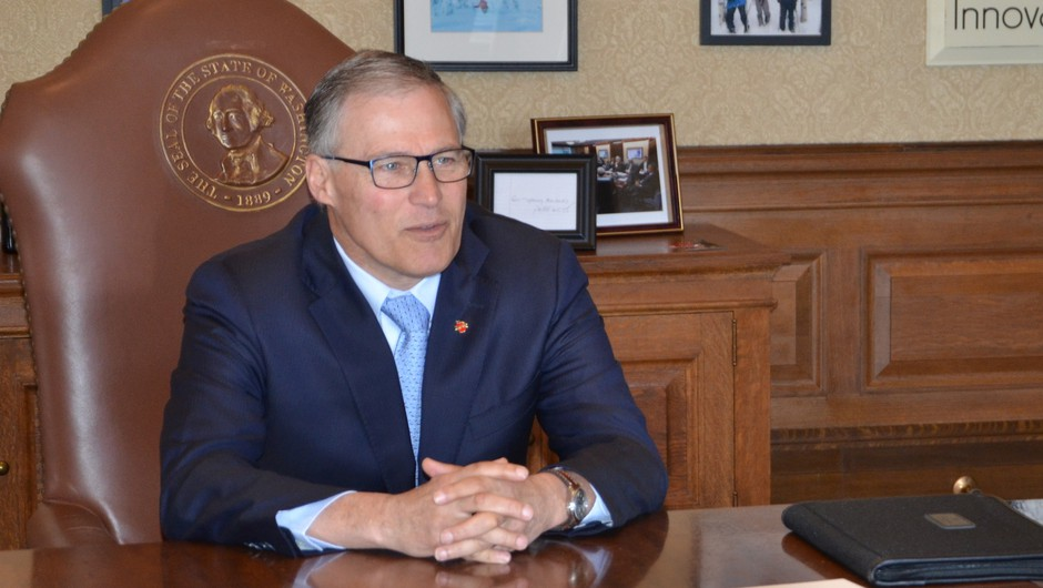 Washington Gov. Jay Inslee at his Capitol office.